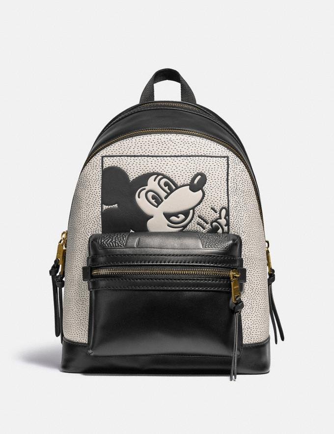 Coach Disney Mickey Mouse X Keith Haring Academy Backpack Ol/Black Multi New Featured Disney x Keith Haring