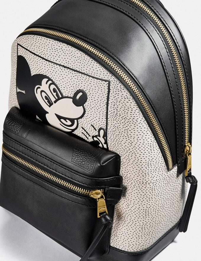 Coach Disney Mickey Mouse X Keith Haring Academy Backpack Ol/Black Multi New Featured Disney x Keith Haring Alternate View 4