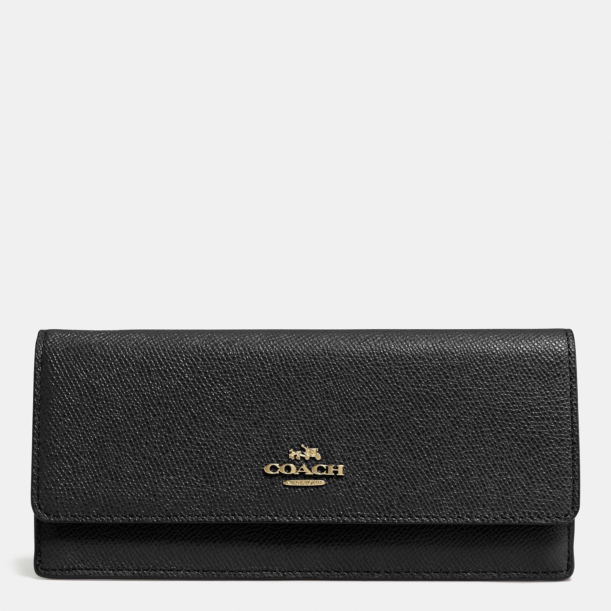 Coach Soft Wallet In Crossgrain Leather