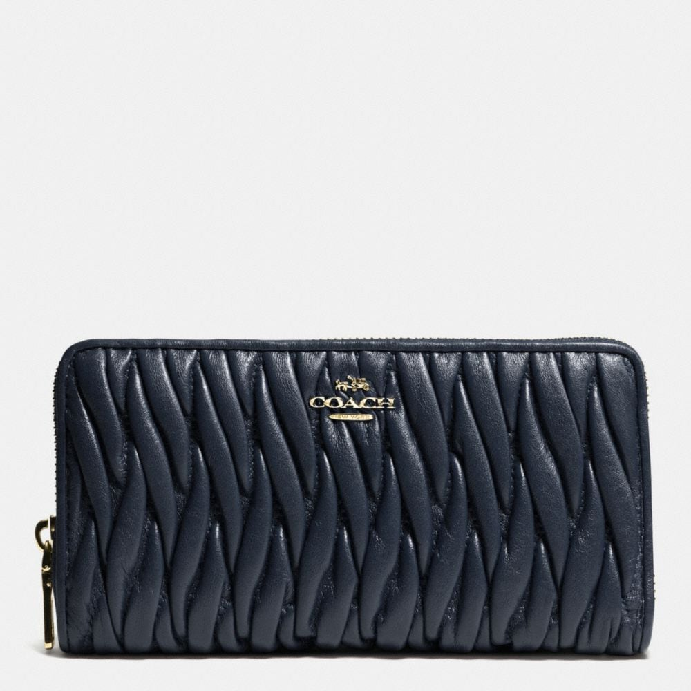 Coach Accordion Zip Wallet in Gathered Leather