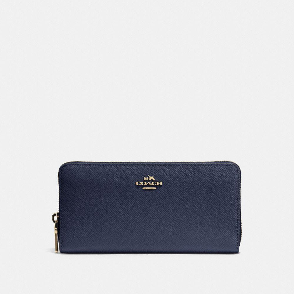 Accordion Zip Wallet in Crossgrain Leather