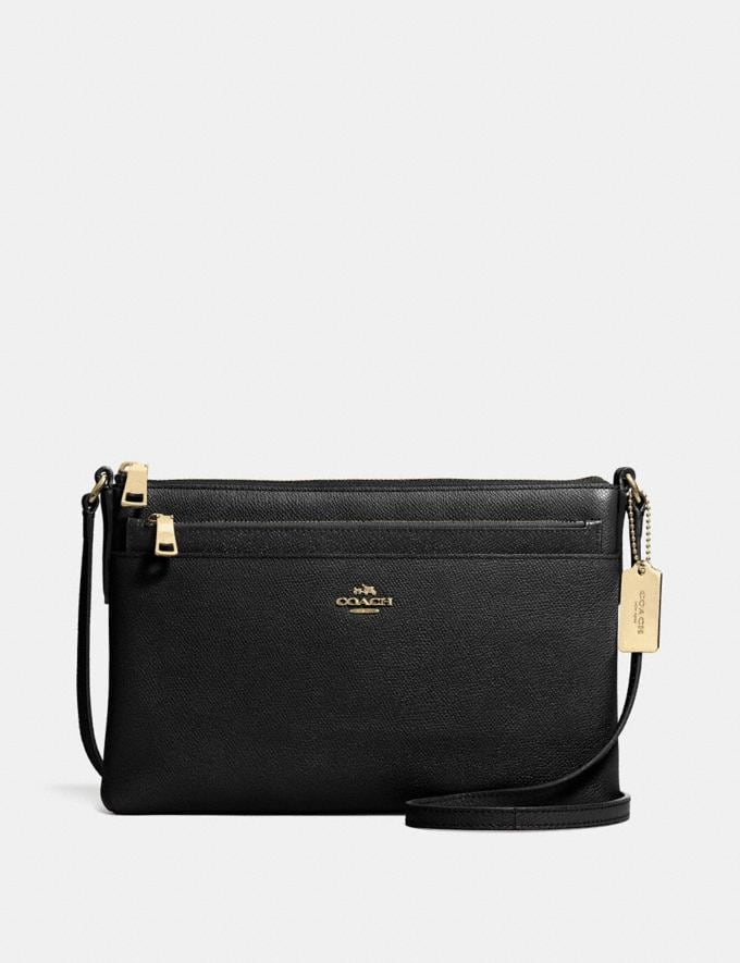 Coach Swingpack With Pop-Up Pouch Black/Light Gold 30% off Select Full-Price Styles