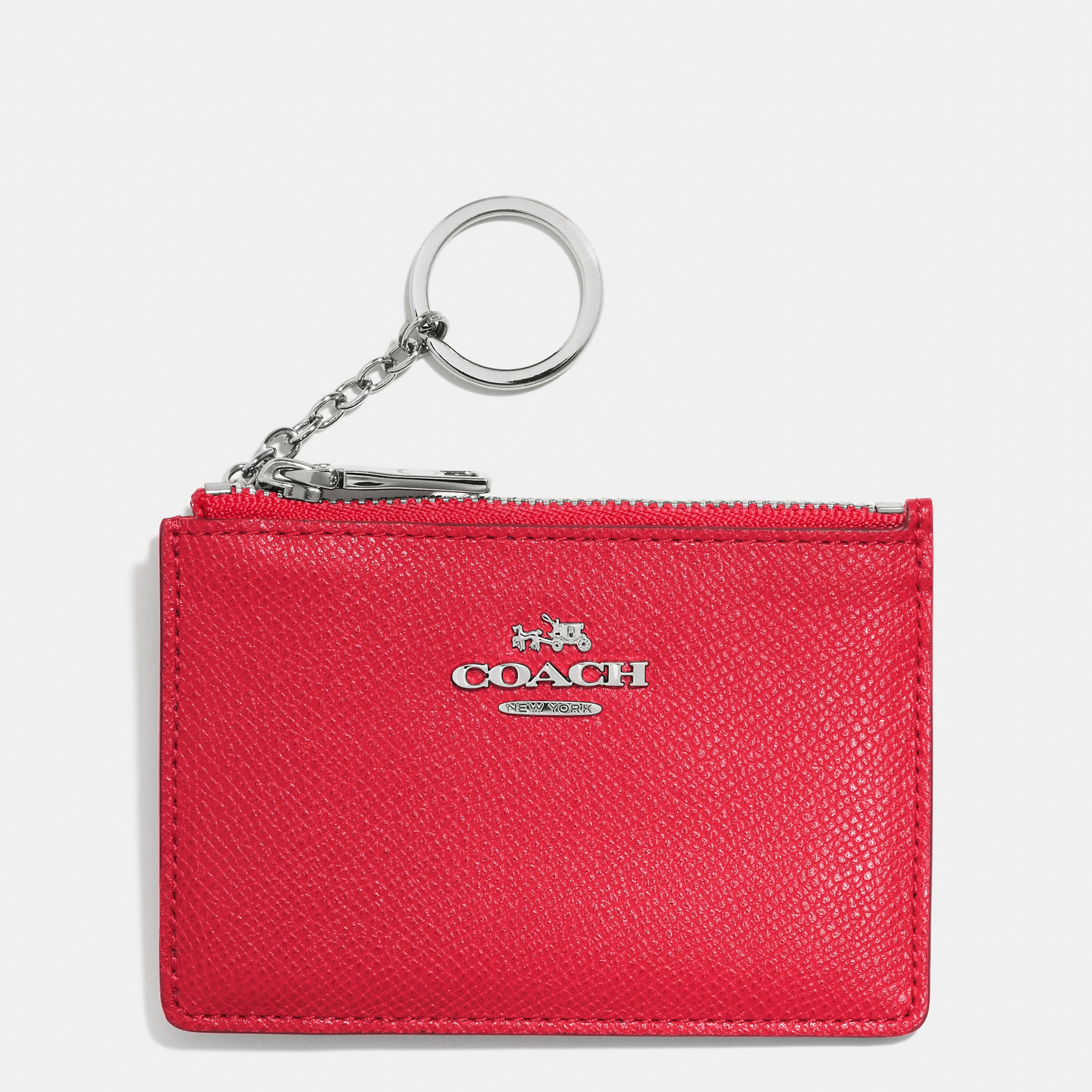 Coach Mini Skinny In Embossed Textured Leather