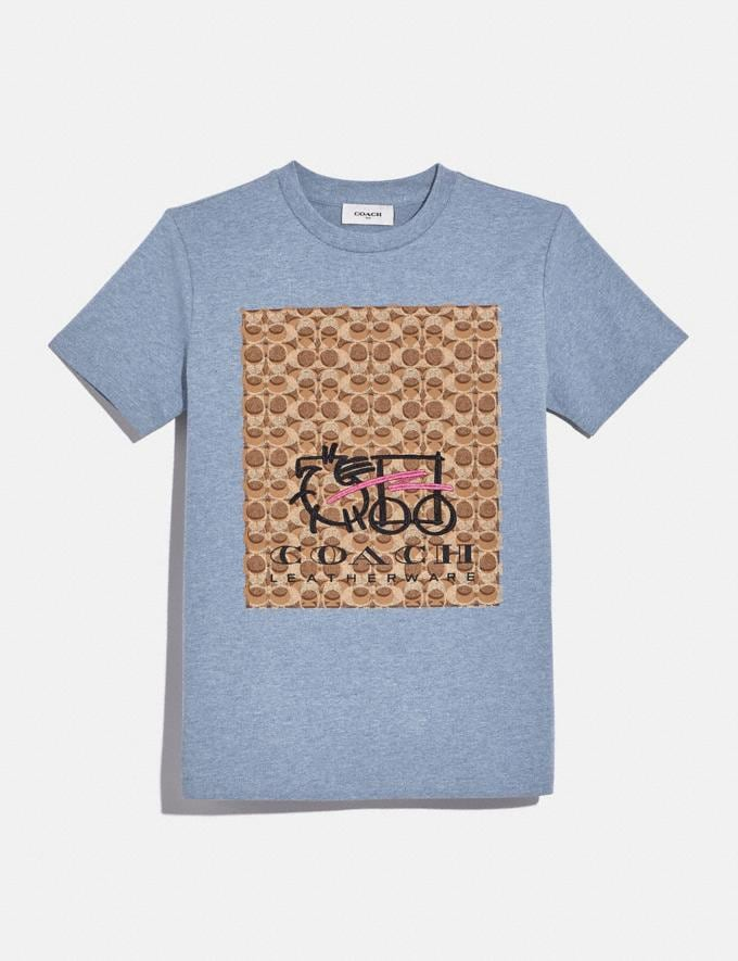Coach Abstract Horse and Carriage Signature T-Shirt Chambray DEFAULT_CATEGORY
