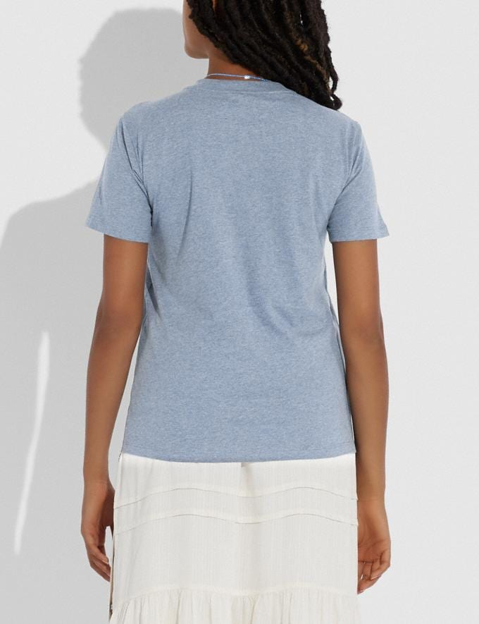Coach Abstract Horse and Carriage Signature T-Shirt Chambray DEFAULT_CATEGORY Alternate View 2