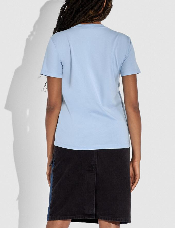Coach Happy Horse and Carriage Signature T-Shirt Powder Blue DEFAULT_CATEGORY Alternate View 2