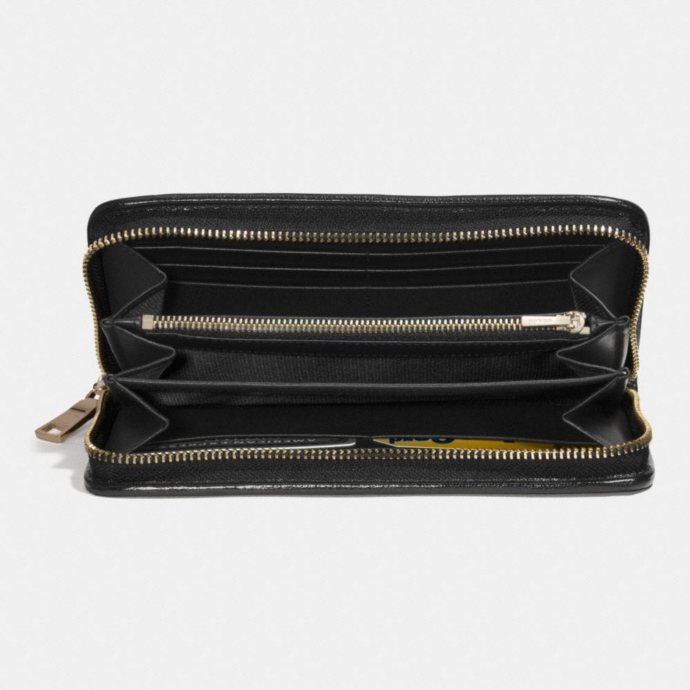 Accordion Zip Wallet in Printed Haircalf - Alternate View L1