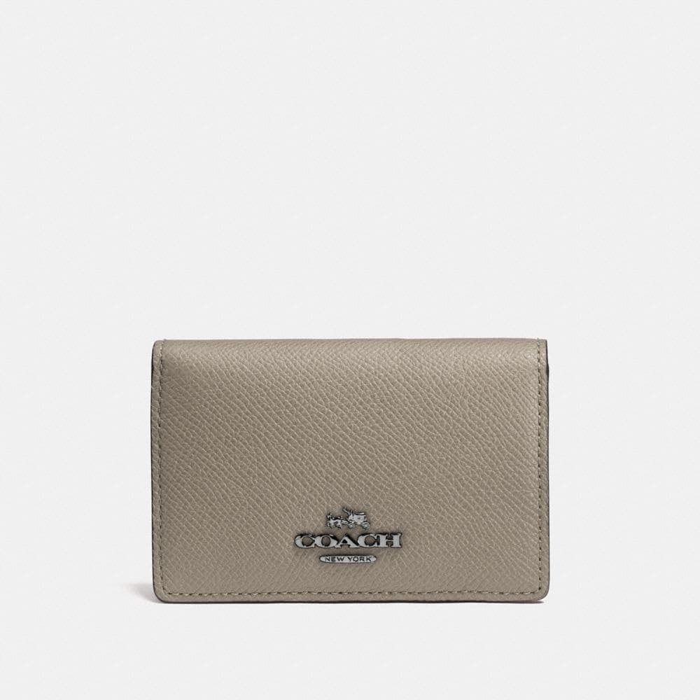 BUSINESS CARD CASE IN CROSSGRAIN LEATHER
