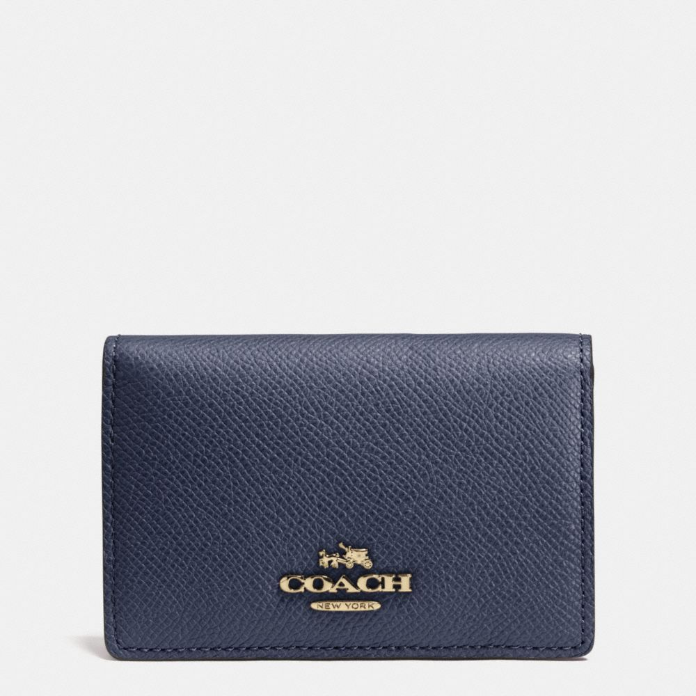 Coach Business Card Case in Crossgrain Leather