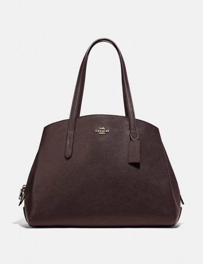 Coach Charlie Carryall 40 Gold/Oxblood Personalise For Her Bags