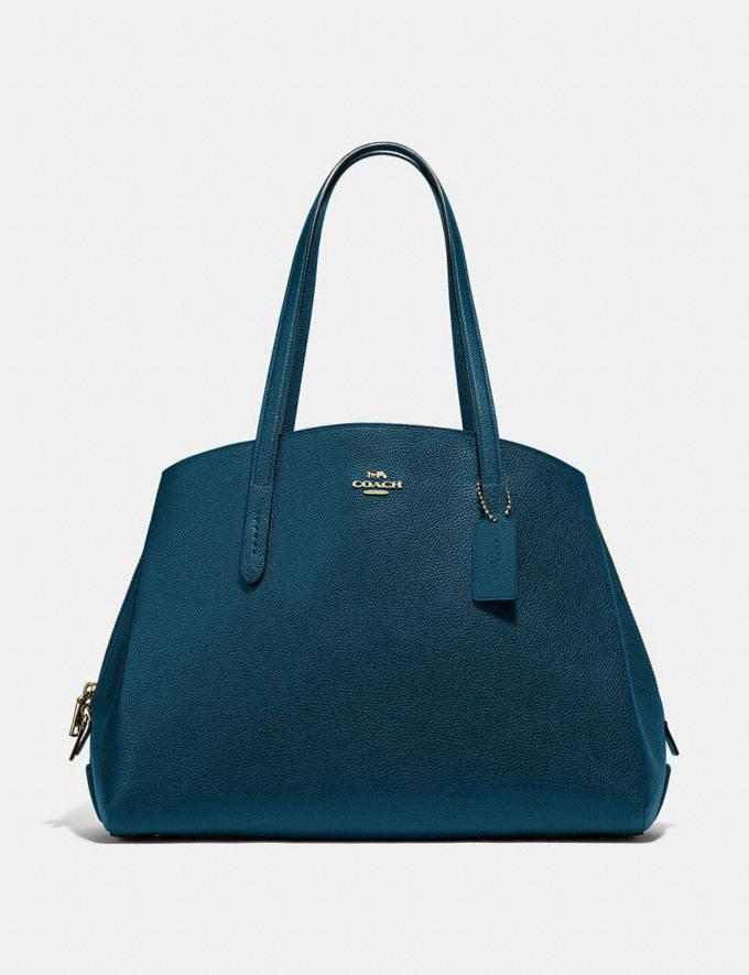 Coach Charlie Carryall 40 Peacock/Gold Women Edits Your Life, Your Coach