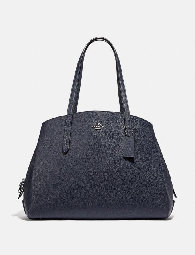 Coach Charlie Carryall 40 Midnight Navy/Silver Cyber Monday