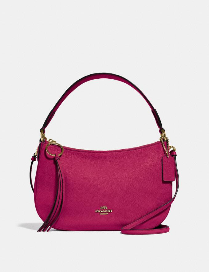 Coach Sutton Crossbody Bright Cherry/Gold Women Bags View All