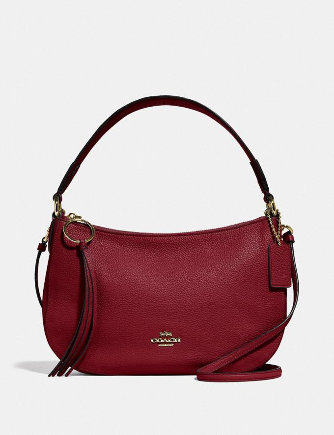 Coach Sutton Crossbody Gd/Deep Red Gift For Her Under €250