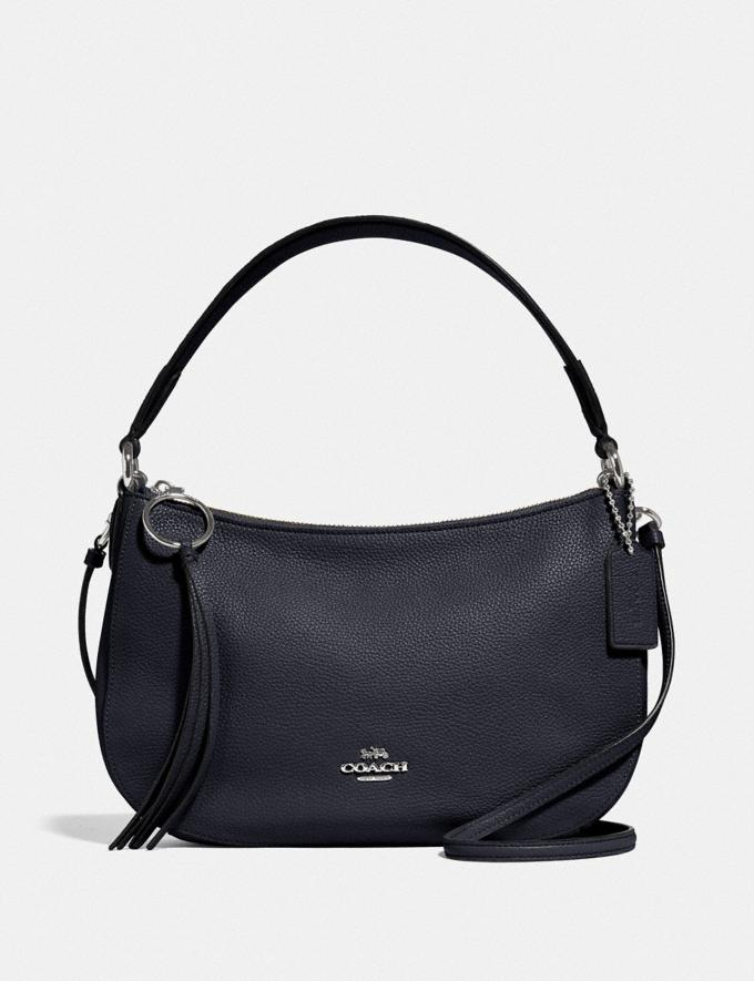 Coach Sutton Crossbody Sv/Midnight Navy Women Bags Crossbody Bags