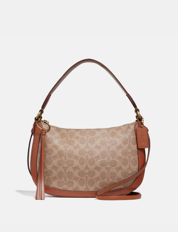 Coach Sutton Crossbody in Signature Canvas Tan/Rust/Brass Gifts For Her