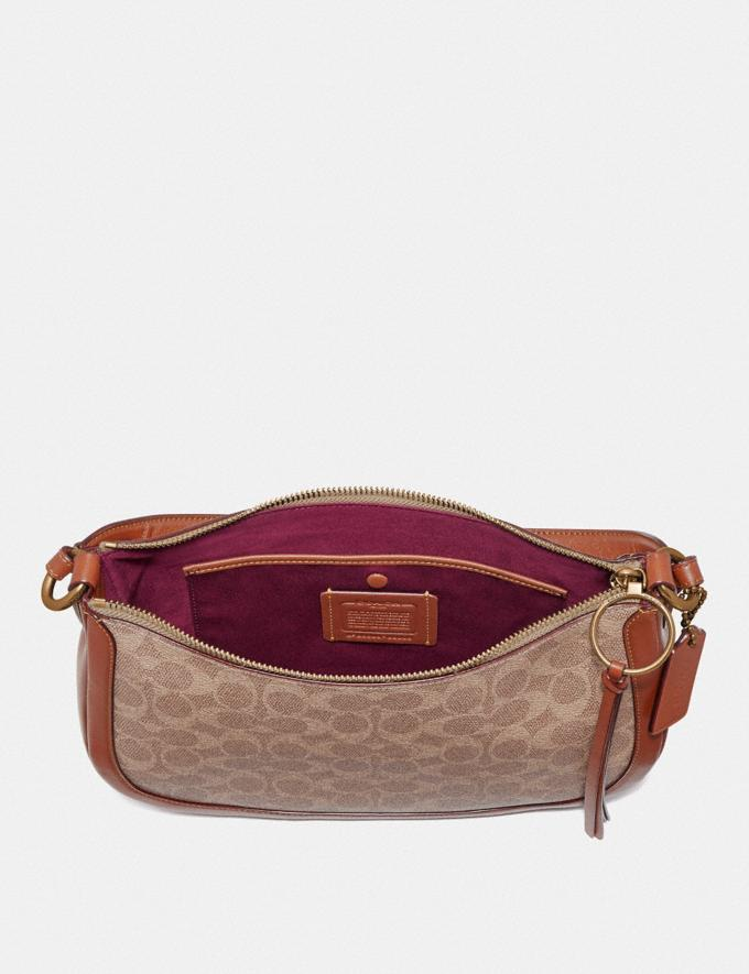 Coach Sutton Crossbody in Signature Canvas Tan/Rust/Brass Women Bags Crossbody Bags Alternate View 3