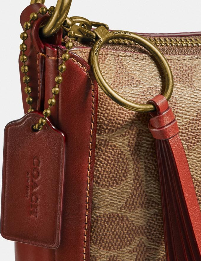 Coach Sutton Crossbody in Signature Canvas Tan/Rust/Brass Gifts For Her Alternate View 6