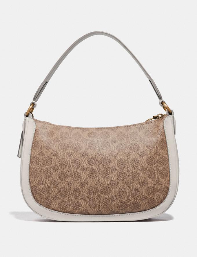Coach Sutton Crossbody in Signature Canvas Tan/Chalk/Brass Women Handbags Shoulder Bags & Hobos Alternate View 2