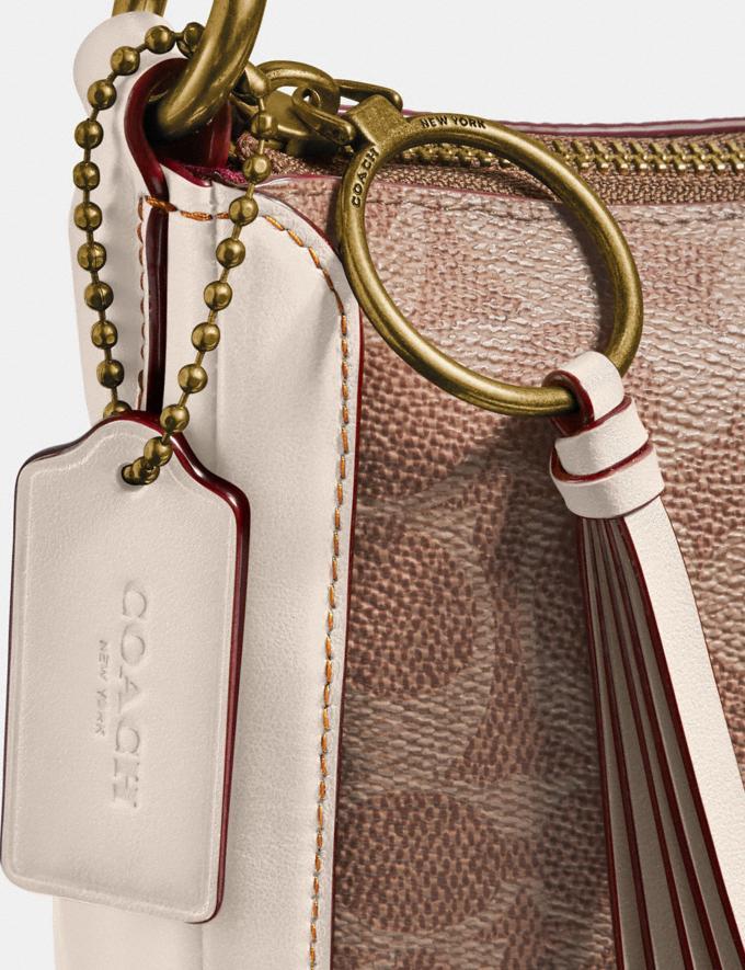 Coach Sutton Crossbody in Signature Canvas Tan/Chalk/Brass Women Handbags Shoulder Bags & Hobos Alternate View 6
