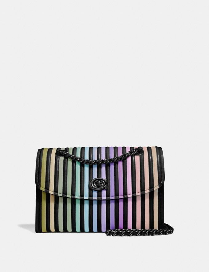 Coach Parker With Ombre Quilting Black Multi/Gunmetal Women Collection Parker