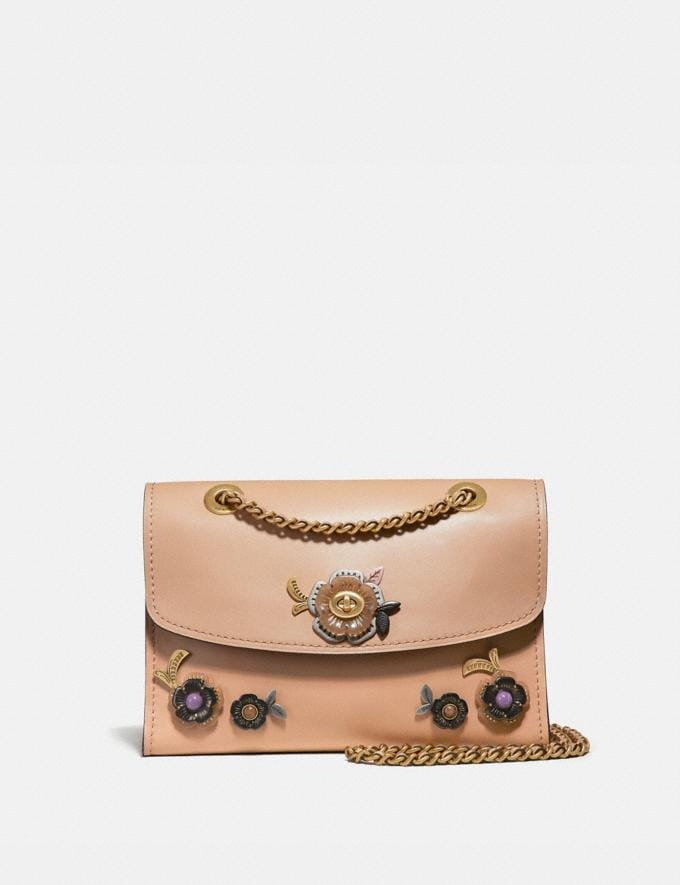 Coach Parker With Allover Tea Rose Stones Beechwood/Brass New Featured Online Exclusives