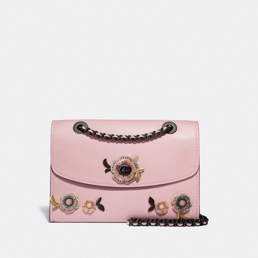 BORSA A TRACOLLA PARKER CON PIETRE DI ROSA TEA ALL-OVER