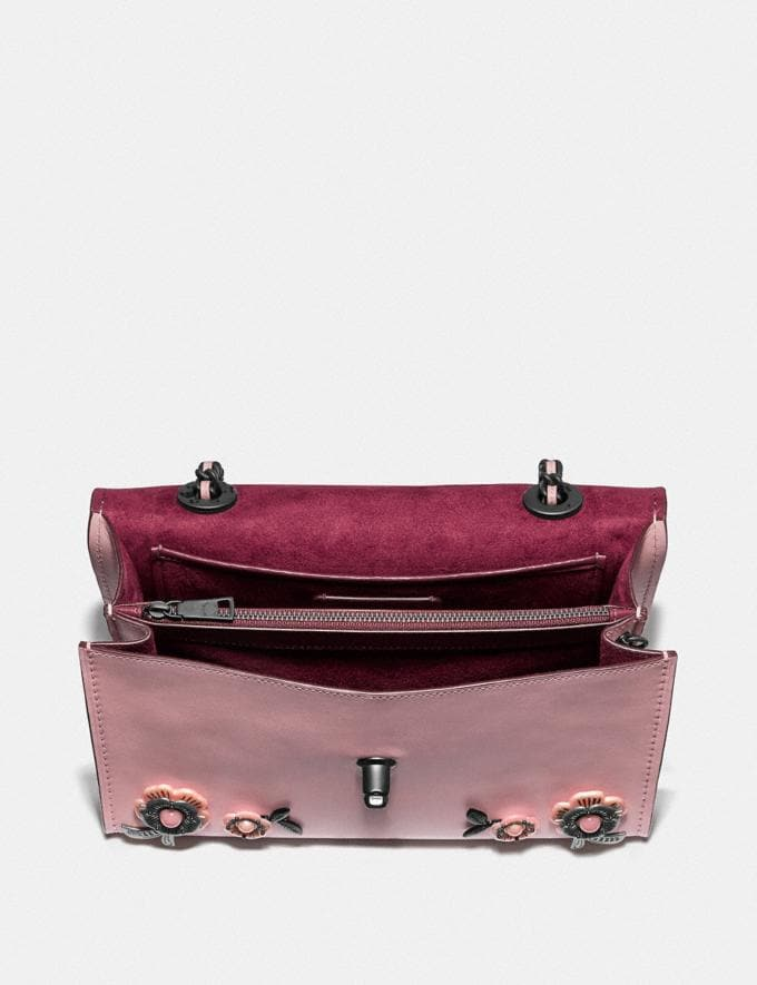 Coach Parker With Allover Tea Rose Stones Blossom/Pewter Women Collection Parker Alternate View 3