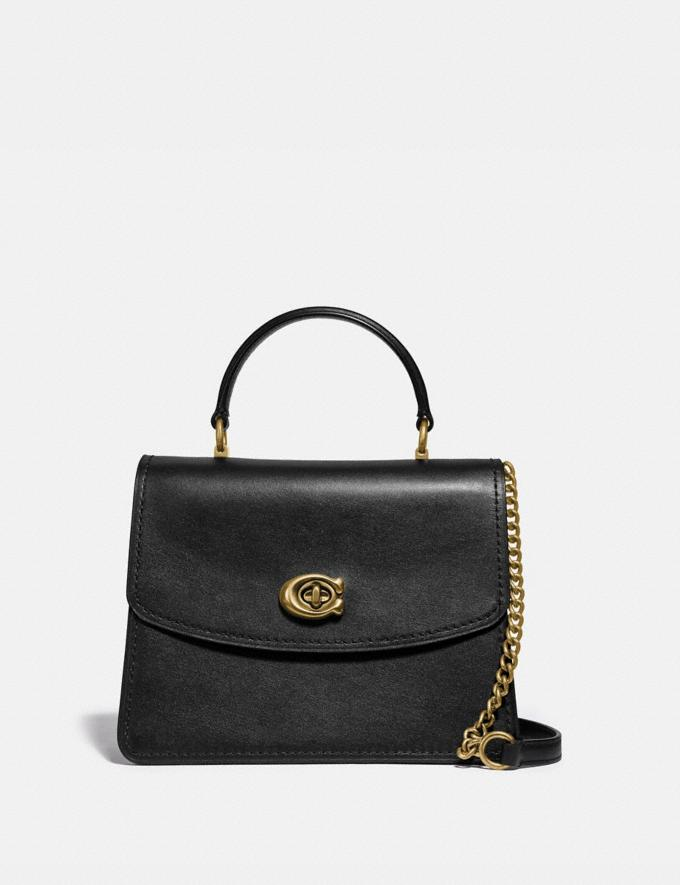Coach Parker Top Handle Black/Brass Women Collection Parker