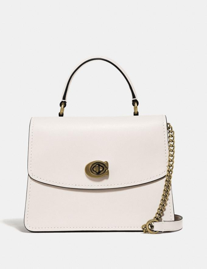Coach Parker Top Handle Chalk/Brass Cyber Monday Online Only Cyber Monday Sale Bags