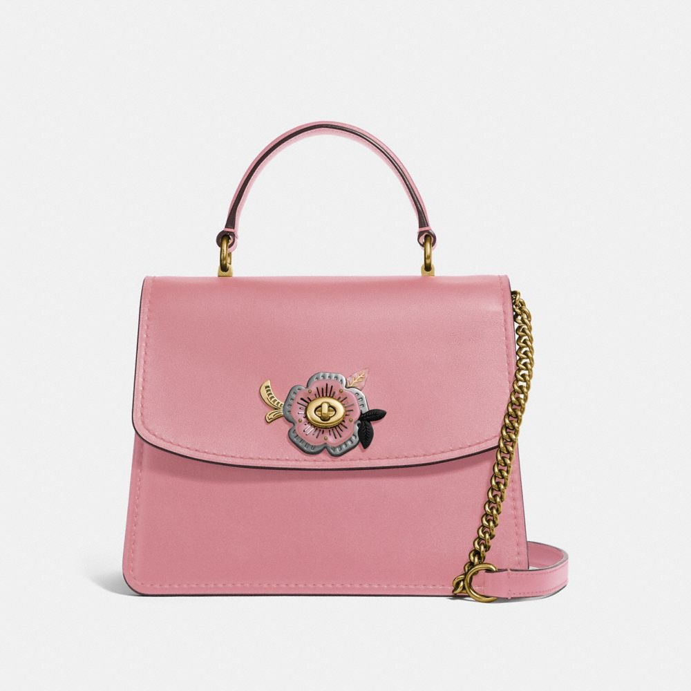 Coach Parker Top Handle Avec Rose ThÉ Et Pierres
