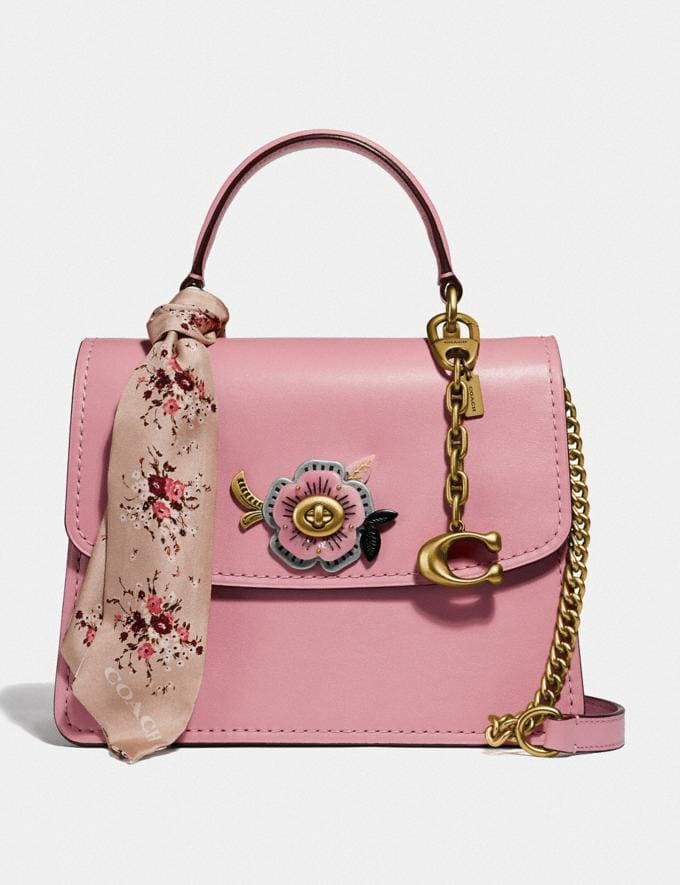 Coach Parker Top Handle With Tea Rose Stones Light Blush/Brass Gifts For Her Valentine's Gifts Alternate View 1