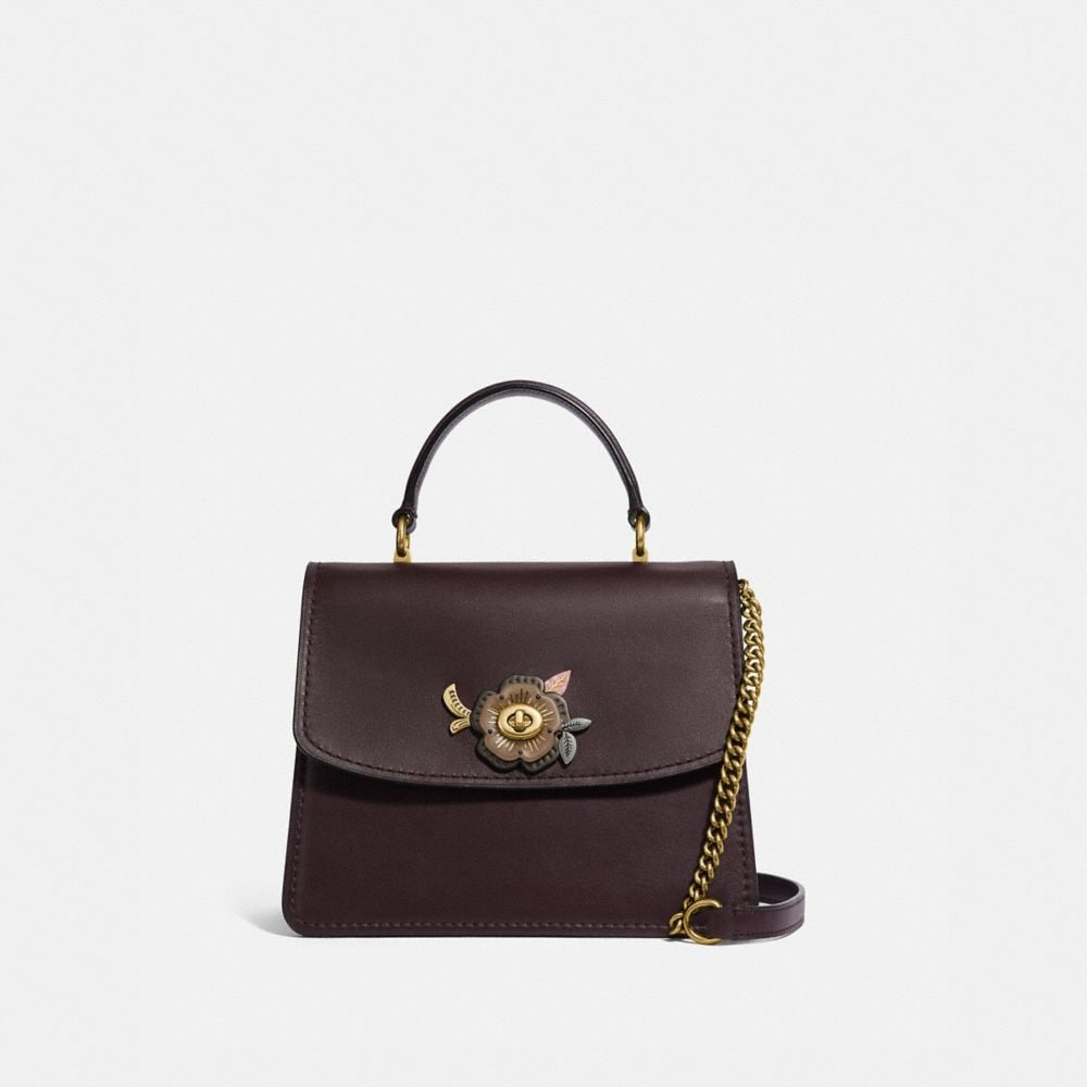 Coach Parker Top Handle With Tea Rose Stones