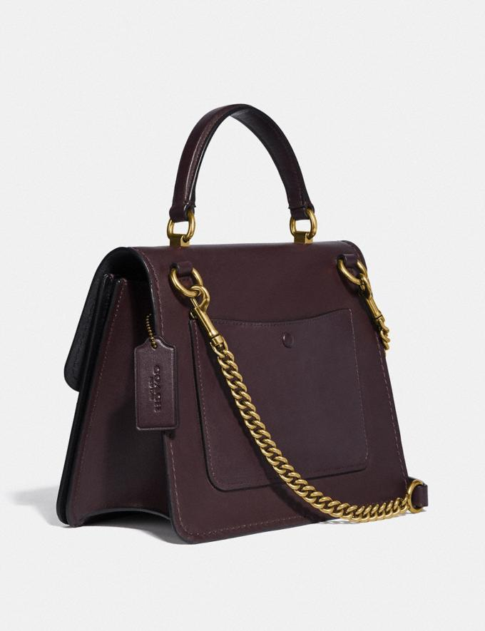 Coach Parker Top Handle With Tea Rose Stones Oxblood/Brass New Women's New Arrivals Bags Alternate View 1