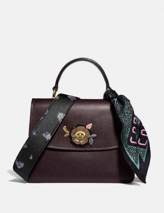Coach Parker Top Handle With Tea Rose Stones Oxblood/Brass New Women's New Arrivals Bags Alternate View 3