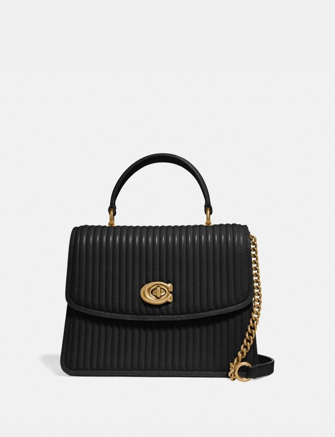 Coach Parker Top Handle With Quilting Black/Brass Gifts For Her Under $500