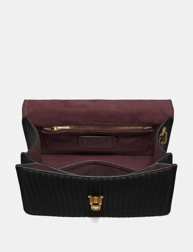 Coach Parker Top Handle With Quilting Black/Brass Gifts For Her Under $500 Alternate View 2