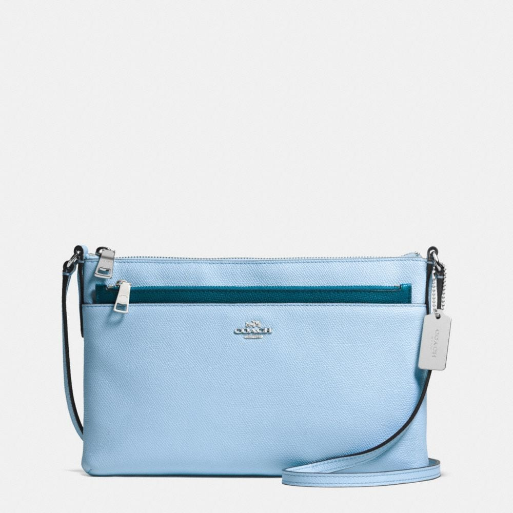 CROSSBODY WITH POP-UP POUCH IN CROSSGRAIN LEATHER