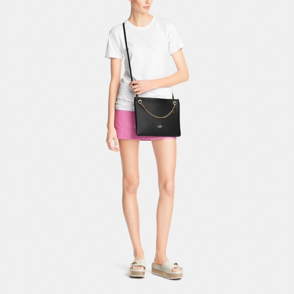 CONVERTIBLE CROSSBODY IN PEBBLE LEATHER - Alternate View M1