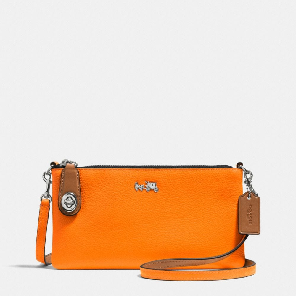 C.O.A.C.H. HERALD CROSSBODY IN POLISHED PEBBLE LEATHER
