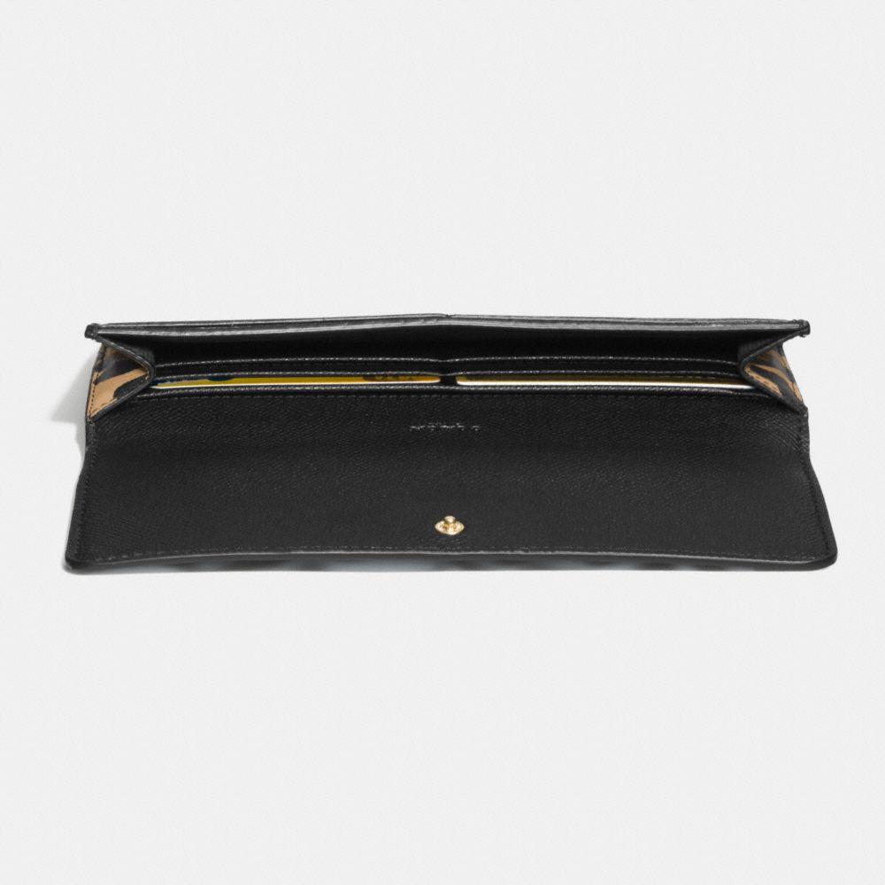 Soft Wallet in Ocelot Print Leather - Alternate View L1