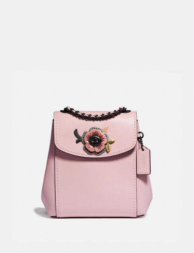 Coach Parker Convertible Backpack 16 With Tea Rose Stones Blossom/Pewter Women Edits Perfect Pastels
