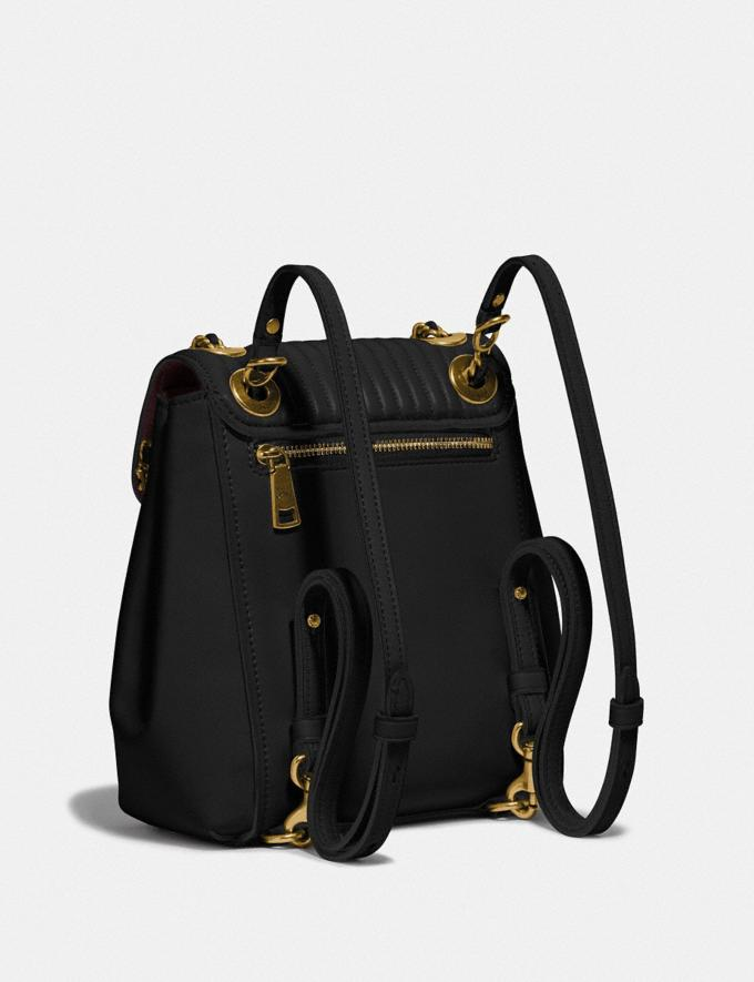 Coach Parker Convertible Backpack 16 With Quilting Black/Brass  Alternate View 1