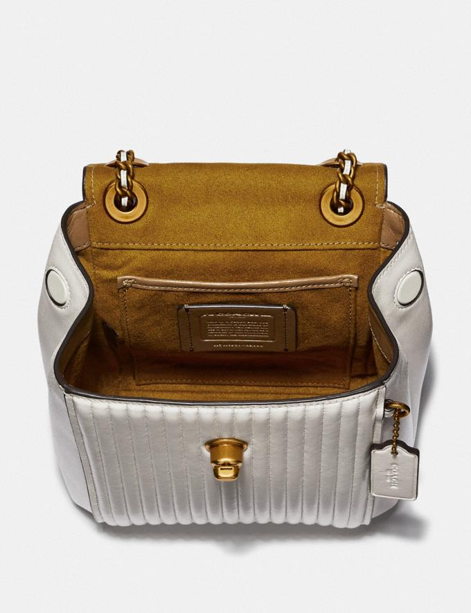 Coach Parker Convertible Backpack 16 With Quilting Chalk/Brass Women Bags Backpacks Alternate View 2