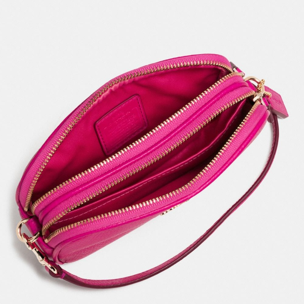 CROSSBODY POUCH IN PEBBLE LEATHER - Alternate View A1