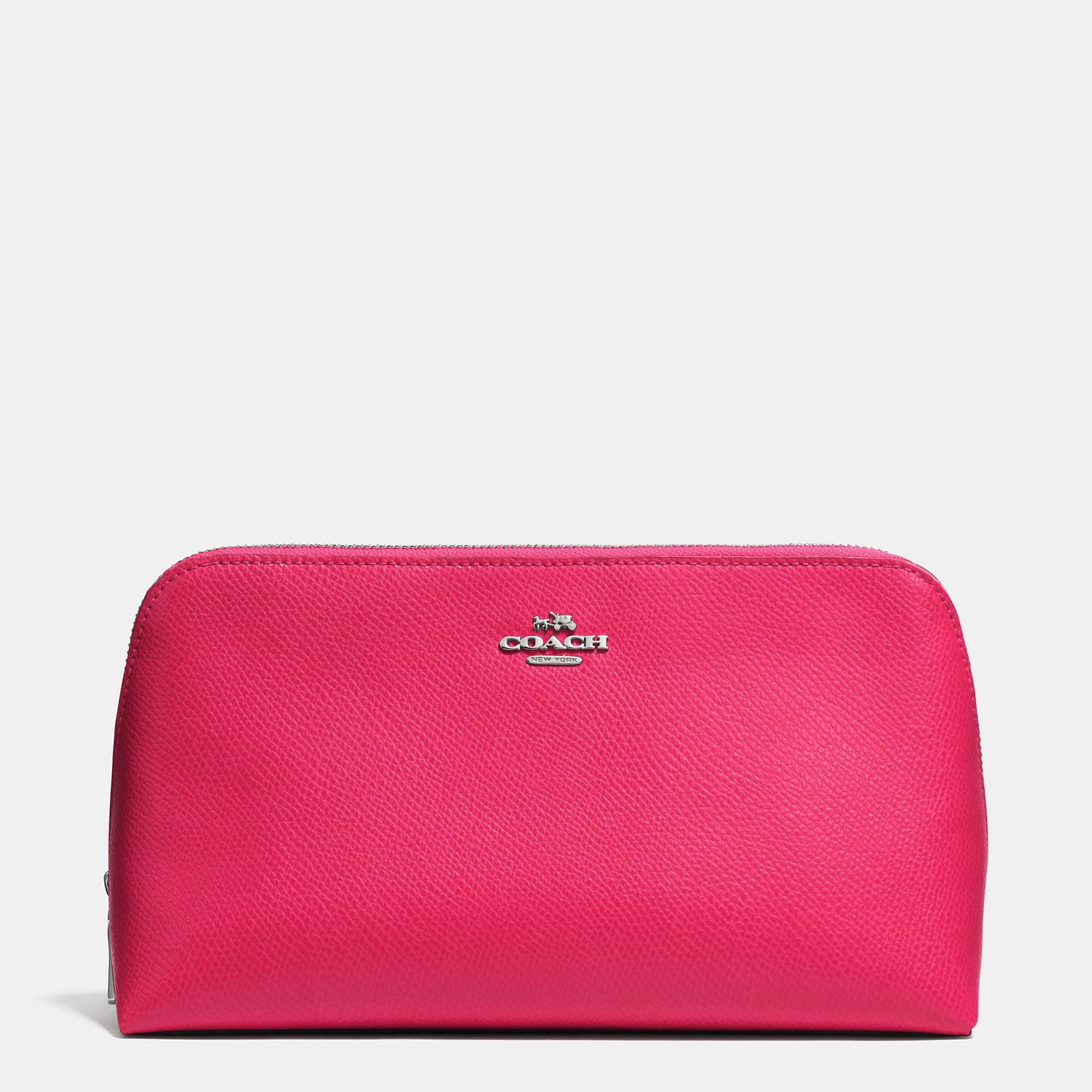 Coach Cosmetic Case 22 In Crossgrain Leather