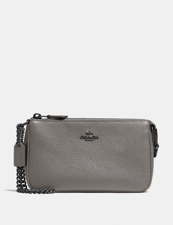 Coach Nolita Wristlet 19 Heather Grey/Dark Gunmetal