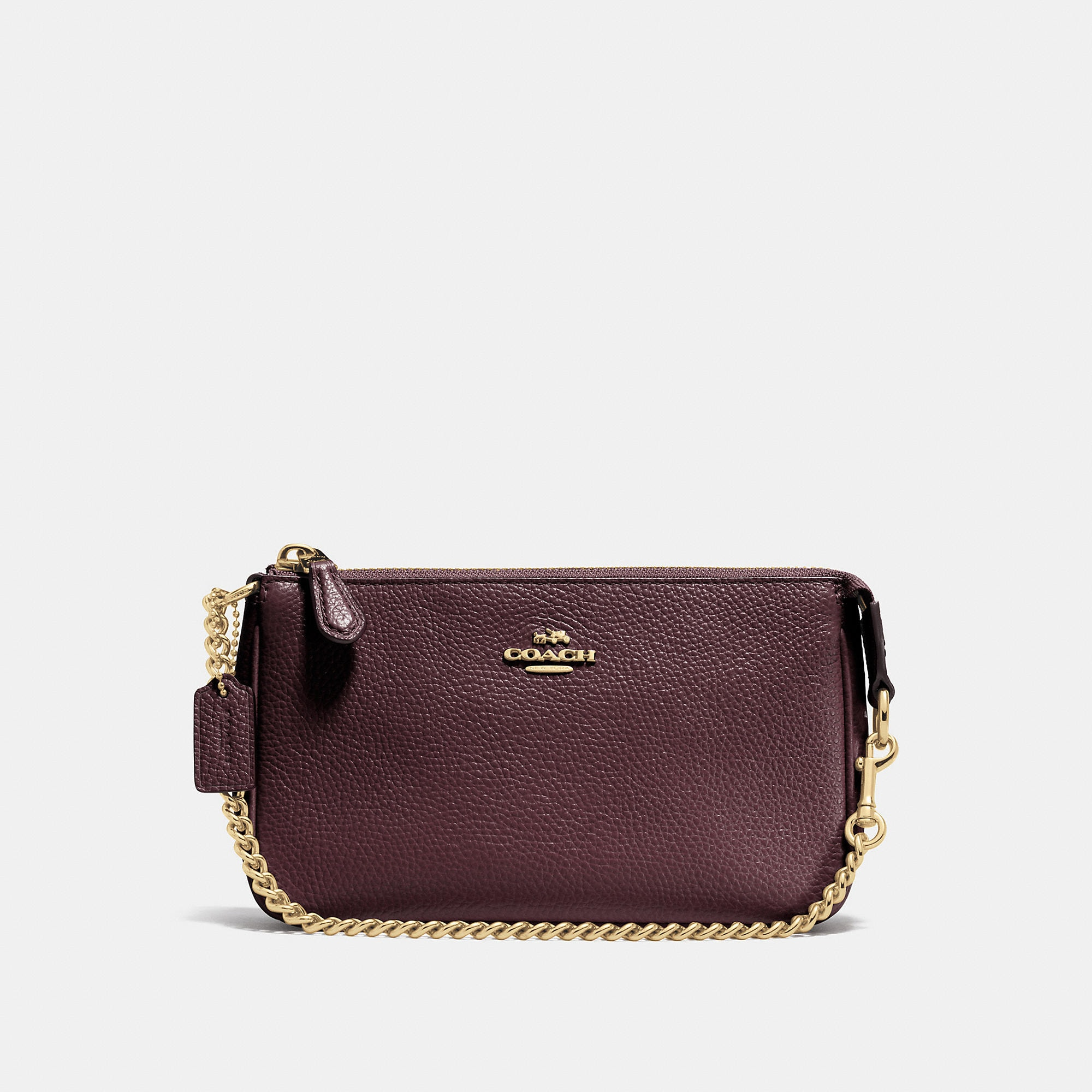 Coach Nolita Wristlet 19 In Pebble Leather
