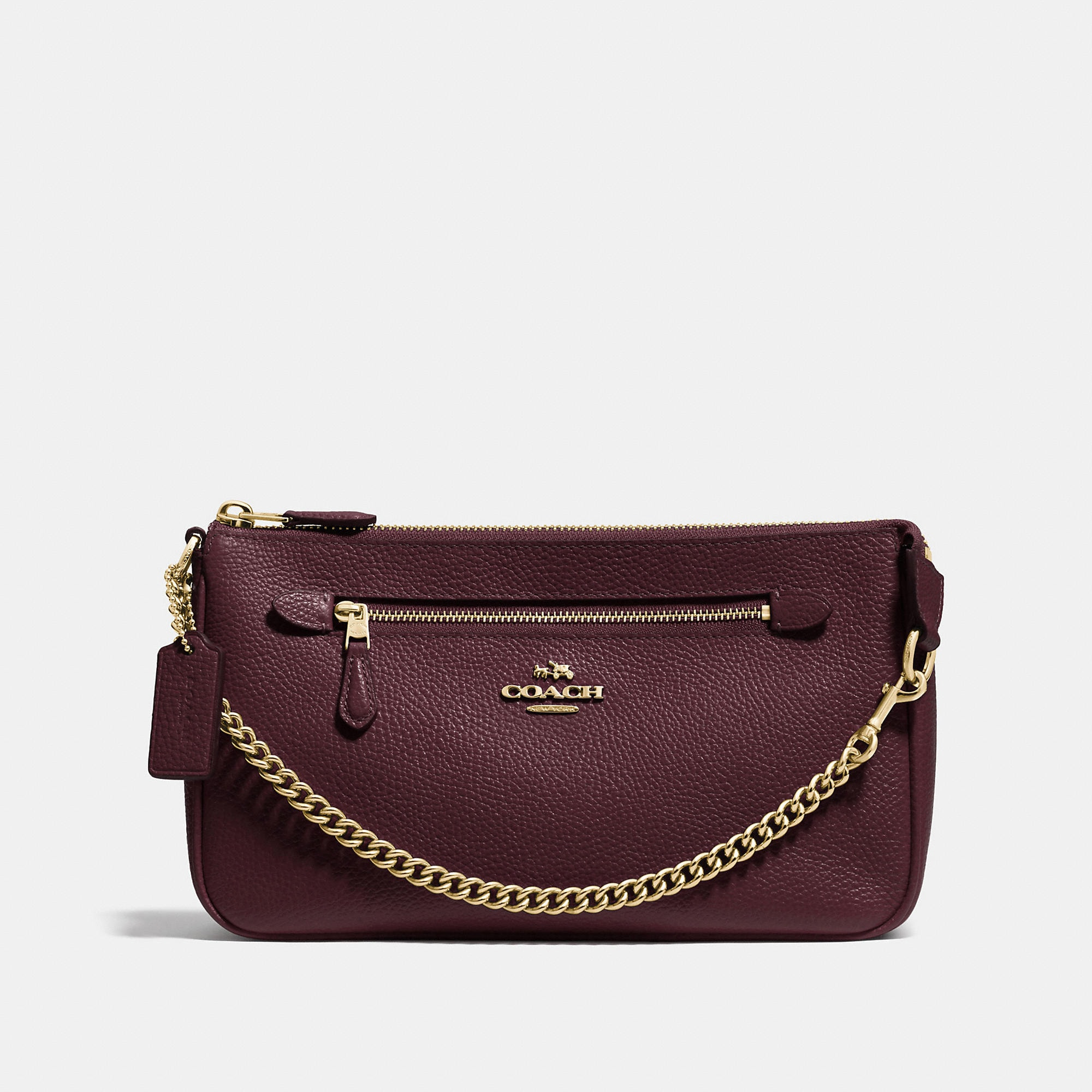 Coach Nolita Wristlet 24 In Pebble Leather