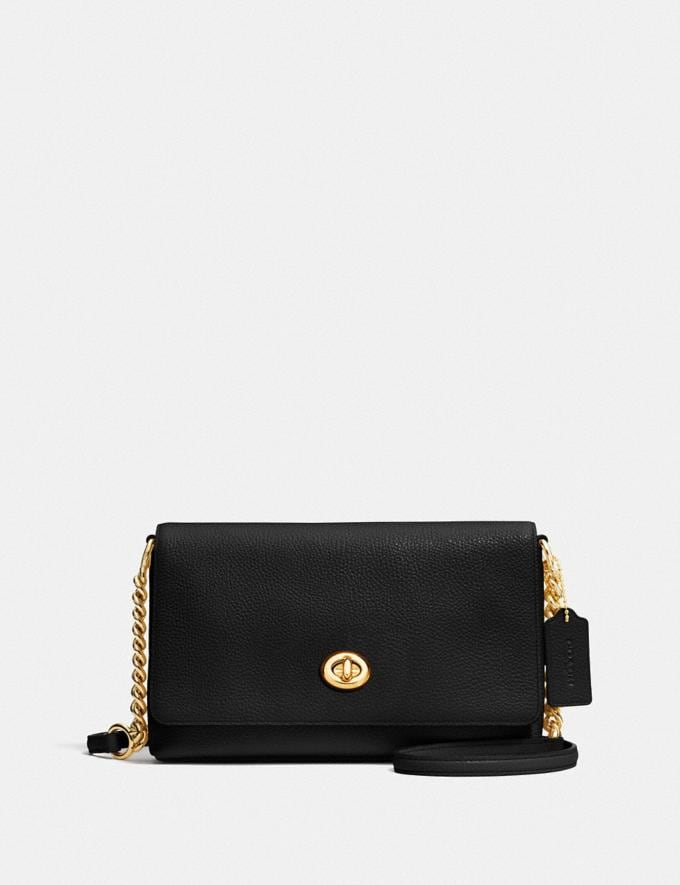 Coach Crosstown Crossbody in Polished Pebble Leather Light Gold/Black OFFERTE SPECIALI PRIVATE Offerte speciali donna Borse